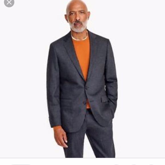 J Crew Ludlow Slim Fit Suit Jacket Men Sz 42R Charcoal Gray Italian Wool Blazer
